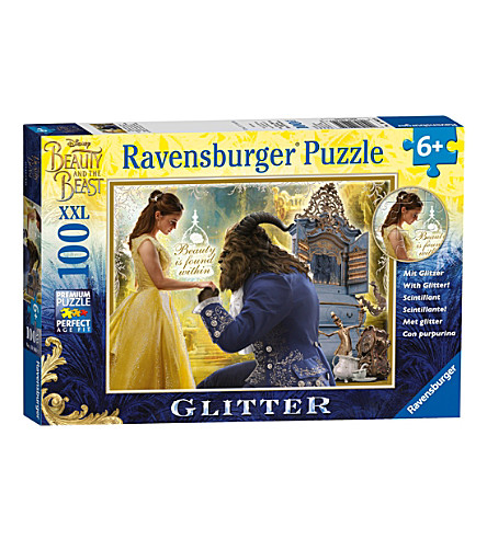 DISNEY PRINCESS Beauty and the Beast glitter puzzle