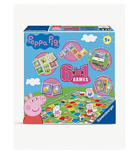 PEPPA PIG 6-in-1 games box