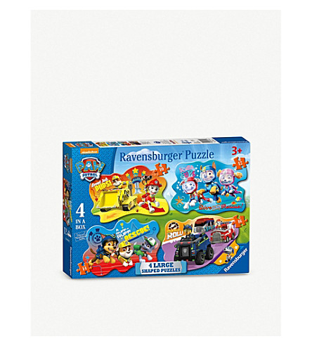PAW PATROL Ravensburger 4-in-1 shaped puzzles