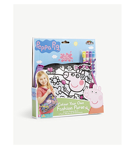 PEPPA PIG Colour Your Own Fashion Purse