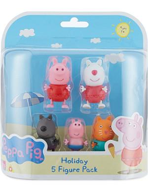 PEPPA PIG Holiday 5 figure pack