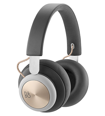 B&O PLAY BY BANG & OLUFSEN Beoplay H4 over-ear leather bluetooth headphones (Charcoal+grey
