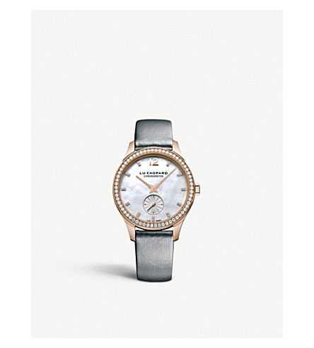 CHOPARD 131968-5001 L.U.C 18ct rose gold and diamond watch