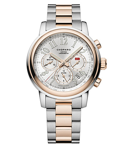 CHOPARD Mille Miglia Chronograph 18ct rose-gold and stainless steel watch