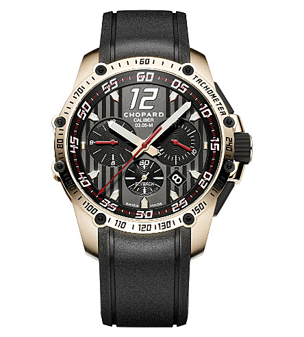 CHOPARD Superfast Chrono 18ct rose-gold watch