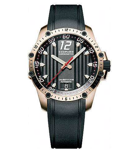 CHOPARD Superfast Automatic rose gold and rubber watch