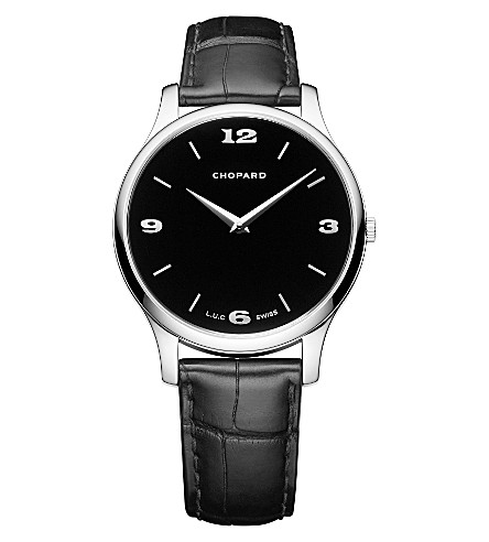 CHOPARD L.U.C XP 18ct white-gold and alligator-leather watch