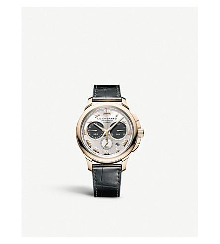 CHOPARD 161928-1001 l.u. C 计时一18ct 玫瑰色金子和皮革手表