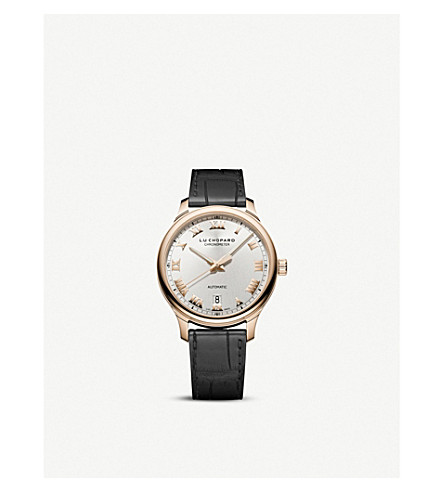 CHOPARD L.U.C 1937 Classic 18ct rose-gold and alligator-leather watch
