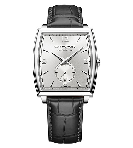 CHOPARD L.U.C XP Tonneau 18ct white-gold and alligator-leather watch