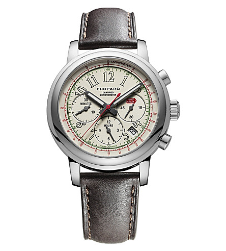 CHOPARD Mille Miglia 2014 Race Edition stainless steel and leather watch