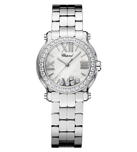 CHOPARD Happy Sport Mini New Generation stainless steel and diamond watch