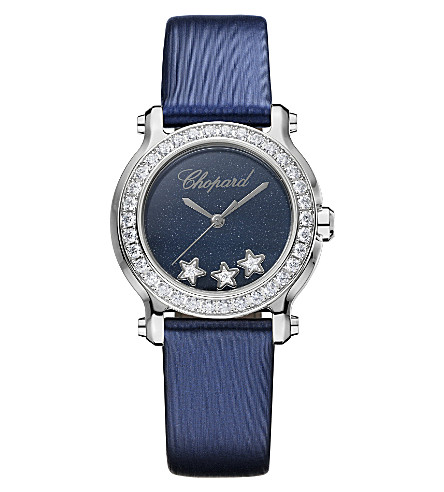 CHOPARD Happy Sport Mini stainless steel and diamond watch