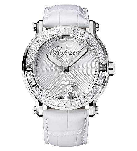 CHOPARD Happy Sport XL stainless steel, diamond watch
