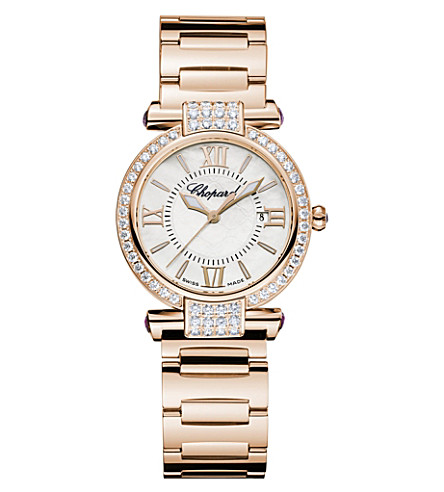 CHOPARD IMPERIALE 18ct rose-gold, amethyst, diamond and mother-of-pearl watch
