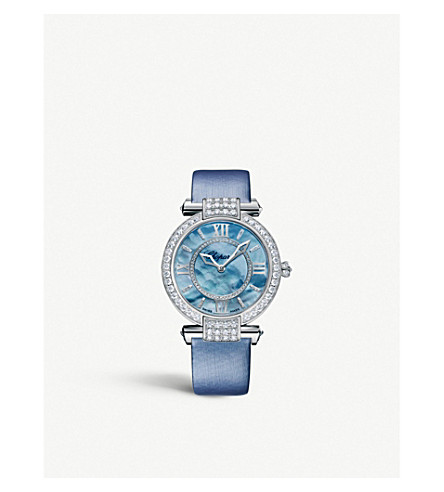 CHOPARD Imperiale blue and diamond watch