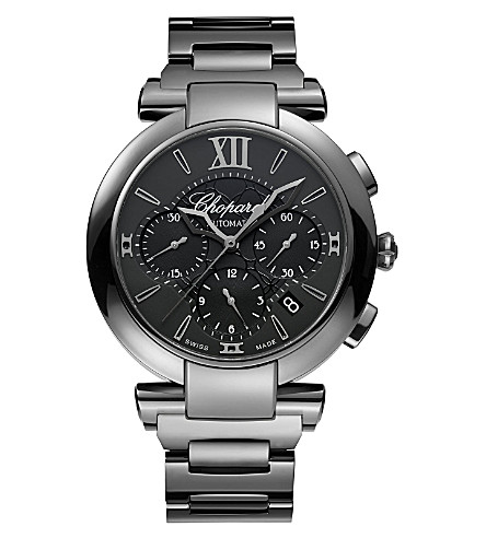 CHOPARD IMPERIALE Chrono blackened stainless steel watch