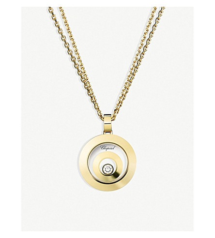 CHOPARD Happy Spirit 18ct yellow-gold and diamond pendant
