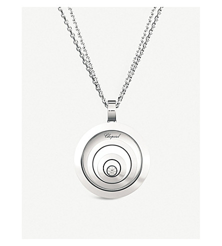 CHOPARD Happy spirit 18ct white-gold pendant