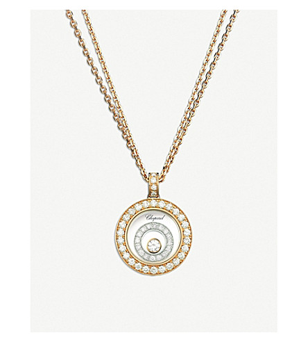 CHOPARD Happy Spirit Diamond 18ct white and rose-gold pendant