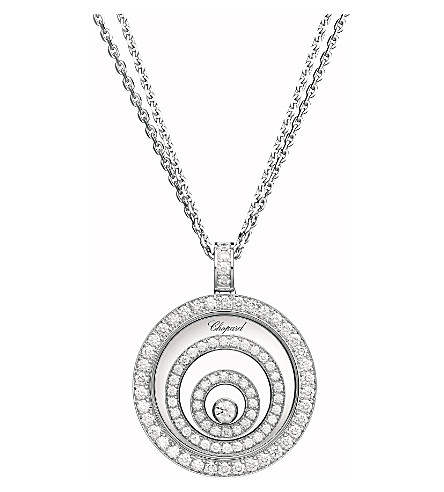 CHOPARD Happy Spirit Diamond 18ct white-gold and diamond pendant