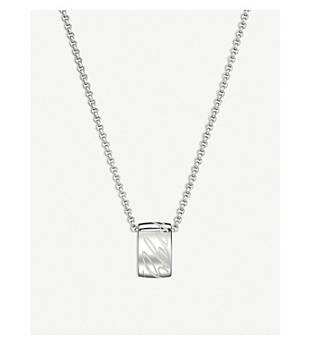 CHOPARD Chopardissimo 18ct white-gold pendant