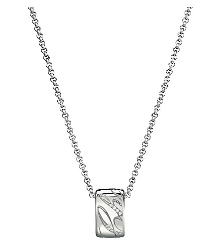 CHOPARD Chopardissimo 18ct white-gold and diamond pendant