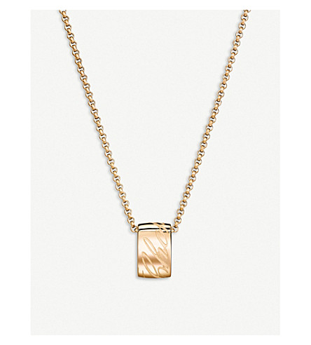 CHOPARD Chopardissimo 18ct rose-gold pendant