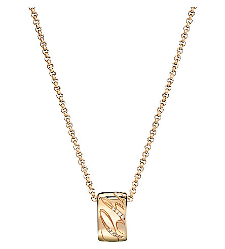 CHOPARD Chopardissimo 18ct rose-gold and diamond pendant