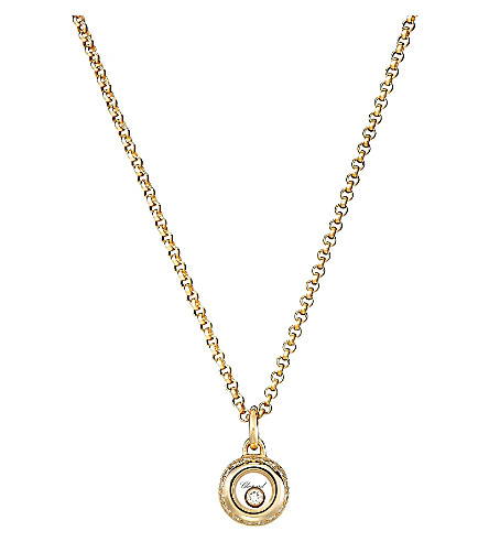 CHOPARD Miss Happy 18ct gold and diamond pendant