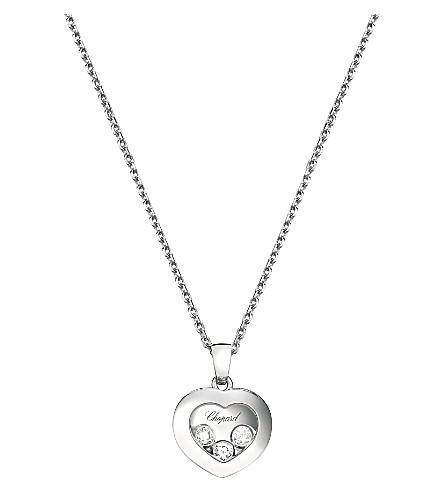 CHOPARD Happy Diamonds Icons 18ct white-gold and diamond pendant