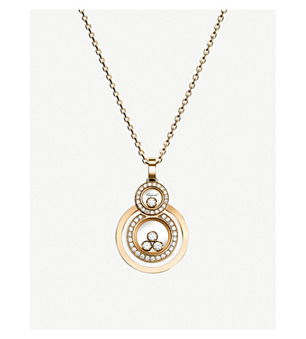 CHOPARD Happy 8 18ct yellow-gold and diamond pendant
