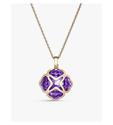 CHOPARD IMPERIALE rose-gold and amethyst long-length pendant necklace