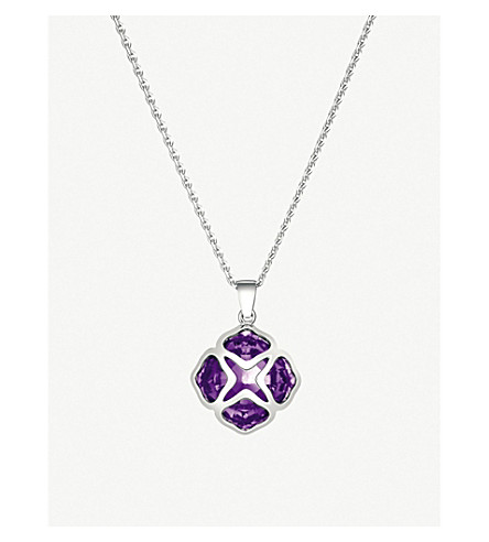 CHOPARD IMPERIALE white-gold and amethyst pendant necklace