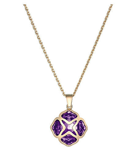 CHOPARD IMPERIALE rose-gold and amethyst pendant necklace