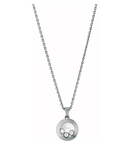 CHOPARD Happy Curves 18ct white-gold and diamond pendant