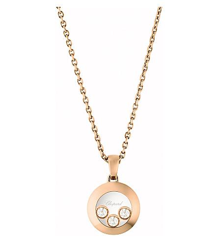 CHOPARD Happy Diamonds Icons 18ct rose-gold and diamond pendant