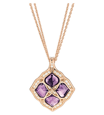 CHOPARD Imperiale 18ct rose-gold amethyst and diamond lace pendant