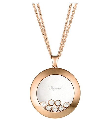 CHOPARD Happy Curves 18ct rose-gold and diamond necklace