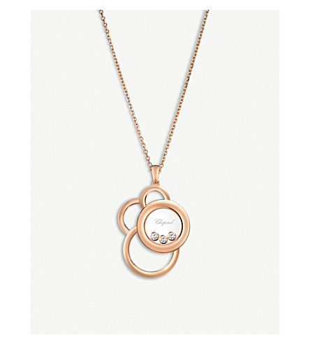 CHOPARD Happy Dreams 18ct rose-gold and diamond pendant