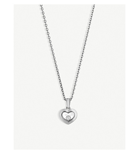 CHOPARD Happy Diamonds Icons 18ct white-gold and diamond pendant