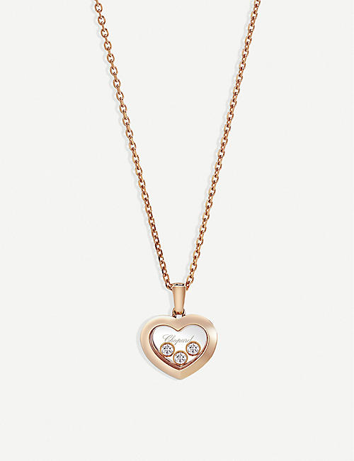 CHOPARD Happy Diamonds Icons 18ct rose-gold and diamond pendant