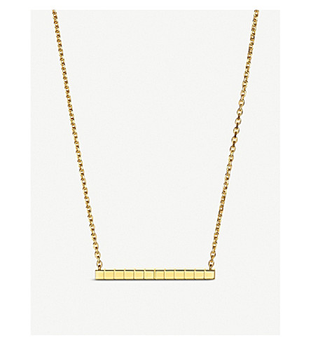 CHOPARD Ice Cube Pure 18ct yellow-gold necklace