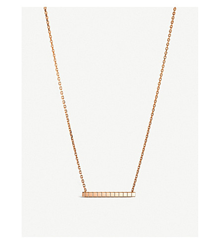 CHOPARD Ice Cube Pure 18ct rose-gold necklace
