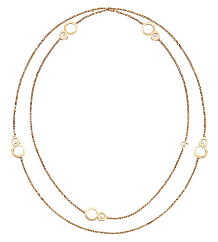 CHOPARD Happy 8 Sautoir 18ct rose-gold and diamond necklace