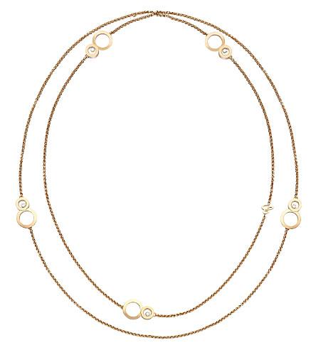 CHOPARD 快乐 8 Sautoir 18ct 玫瑰金和钻石项链