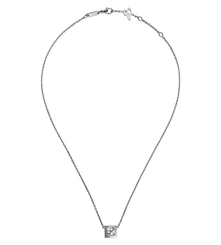 CHOPARD Happy Curves 18ct white-gold and diamond necklace