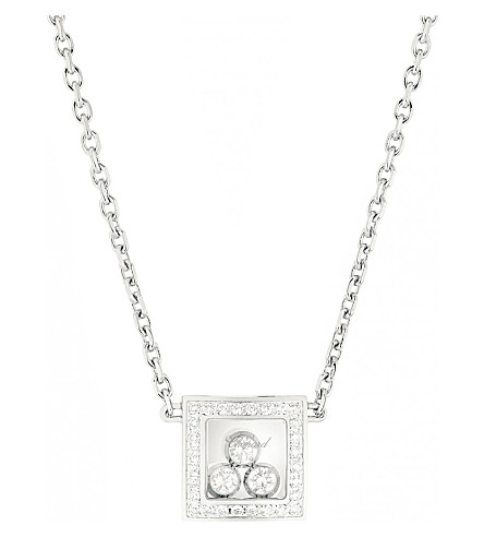 CHOPARD Happy Diamonds Icons 18ct white-gold and diamond necklace