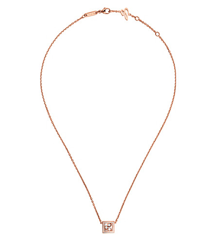 CHOPARD 819224-5002 Happy Curves 18ct rose-gold and diamond necklace