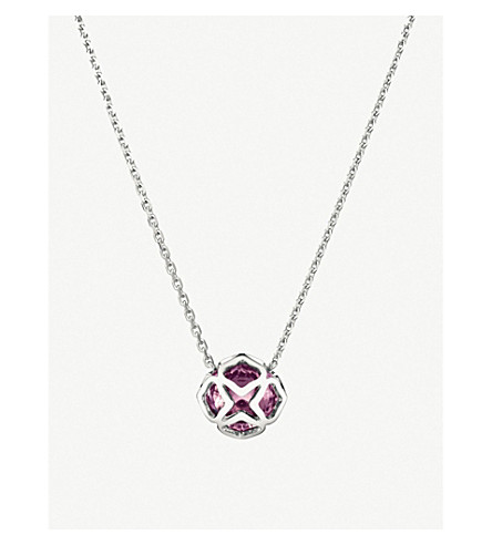 CHOPARD IMPERIALE 18ct white-gold and amythest necklace